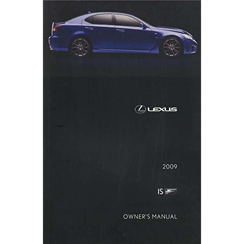 Car Manuals & Literature Owner & Operator Manuals 2009 Lexus ISF ...
