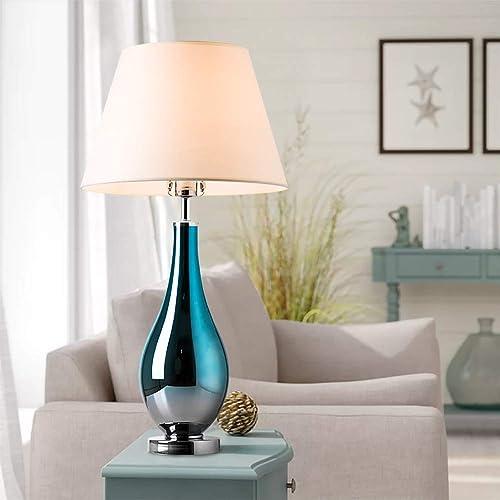 Buy Table Lamps Set of 2 Bule Ombre Glass 28 Side Bedside ...