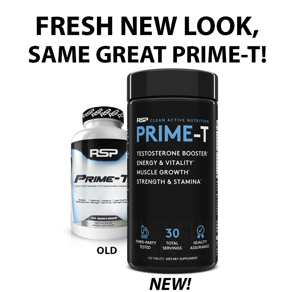 Buy RSP Testosterone Booster for Men Prime T (120 Caps) Natural Test Booster Pills Increase