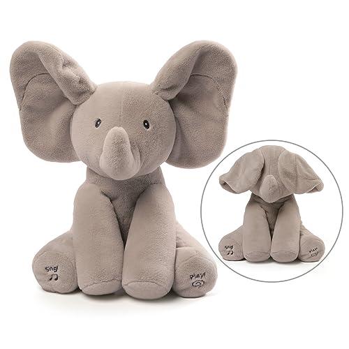 Gund Bayi Animasi Flappy Gajah Boneka Haiwan Mewah Kelabu 12