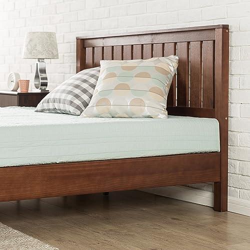 Buy Zinus 12 Inch Deluxe Solid Wood Platform Bed With