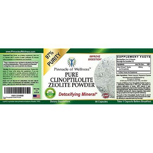 Buy Pinnacle of Wellness Pure Clinoptilolite Zeolite Powder - 97