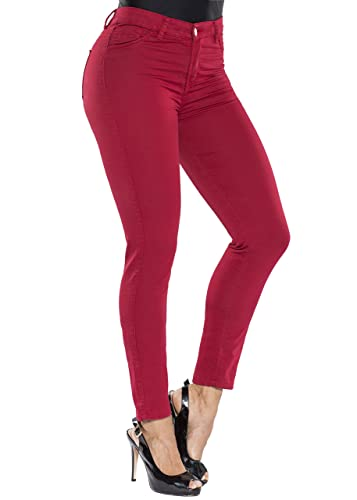 Curvify Butt Lift Stretch Denim Skinny Colored Jeans | Colored Pants for Women