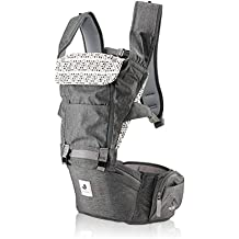 63feb00e378 Pognae No 5 Outdoor Organic Baby Hipseat Front Backpack Carrier (Gray)