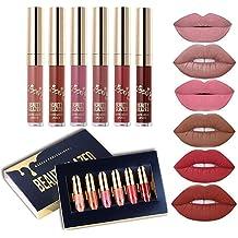 Beauty Glazed 6 PCS Matte Liquid Lipstick set Waterproof Long Lasting Birthday Edition Durable Liquid Lipgloss
