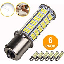 6-Pack, 6000K White 6Pcs Super Bright 1156 1141 1003 1073 BA15S 7506 LED Replacement Light Bulbs for Backup Reverse Turn Signal RV Indoor Lights