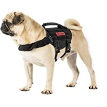 7f97a2ee63939 OneTigris Small Dog Vest Beast MOJO Tactical Dog Harness with Durable  Vertical .
